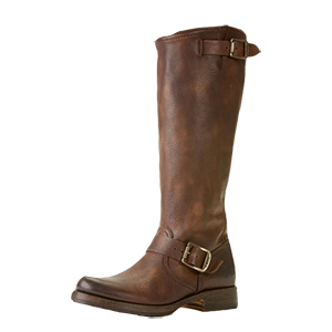 Our Veronica Slouch boot offers a neat take on classic engineer styling with adjustable buckled straps across the vamp and atop the shaft. Wide calf style available, Veronica Slouch EXT.
